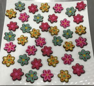 fleurs en chocolat