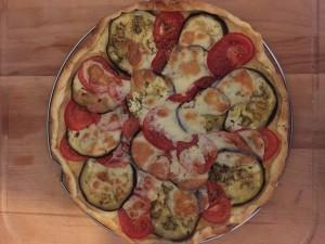 tarte aubergine tomate