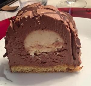 buche choco vanille coupe